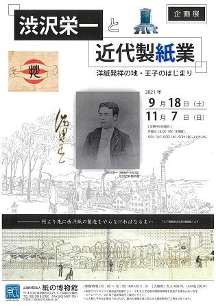 企画展 渋沢栄一と近代製紙業 洋紙発祥の地・王子のはじまり